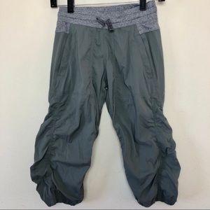 Lululemon Ivviva Crop Athletic Pant Grey Girls 12